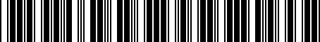 Barcode for 8R0071775A