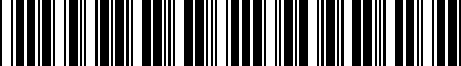 Barcode for 8X0071200