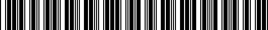 Barcode for 8X0071200Y9B