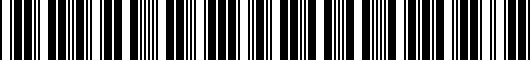 Barcode for ZAW071066DSP