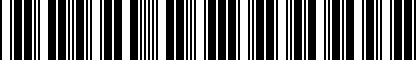 Barcode for ZAW071129
